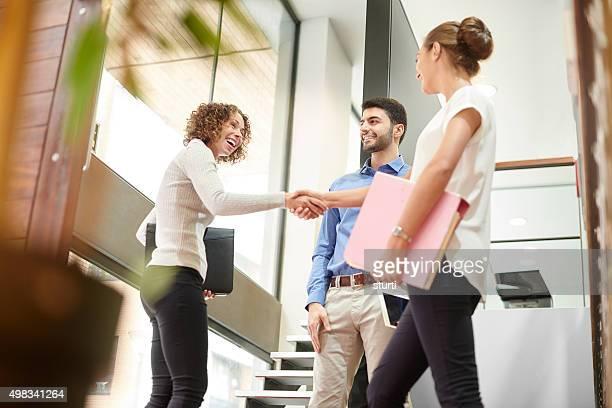 Alla fine di un meeting di successo