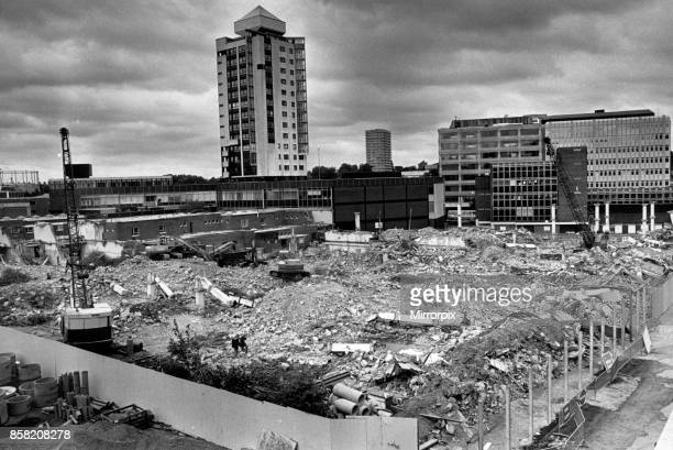 The end of an era Coventry's West Orchard multistorey carpark lies flattened in a heap of twisted girders bricks and rubble This picture taken from...