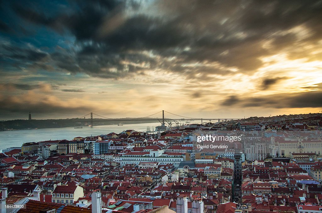 The end of the day in Lisbon