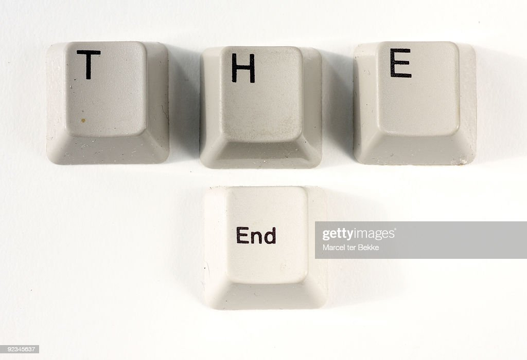 'The end'  : Stock Photo