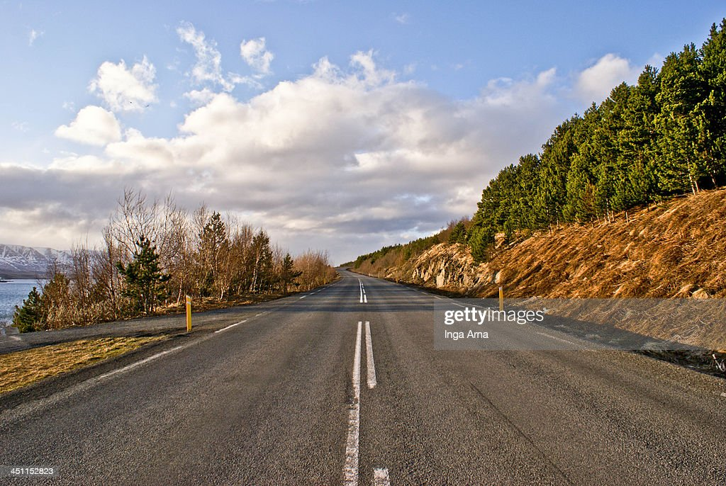 The endless road : Stock Photo