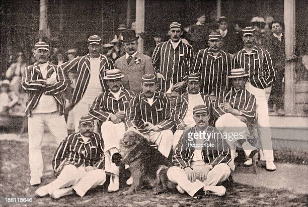 The England cricket team published in 'Black White' on 27th April 1895 following their momentous victory over the Australian team in five Test...