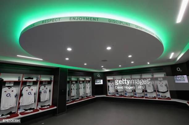 The England dressing room during the Old Mutual Wealth Series international match between England and Australia at Twickenham Stadium on November 18...