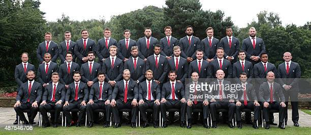 The England playing Squad and coaches for the 2015 Rugby World Cup Tom Youngs Leicester Tigers George Ford of Bath Rugby Jamie George of Saracens...
