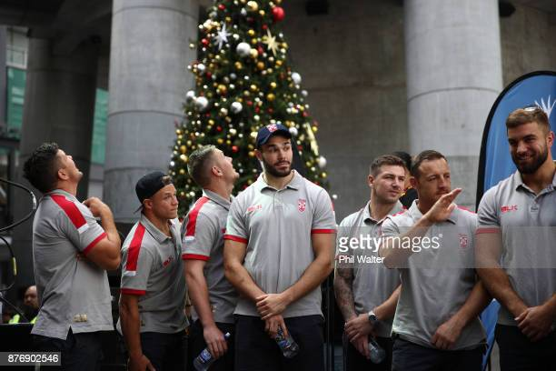 The England Rugby League team during the Rugby League World Cup 2017 Fan Day at SKYCITY on November 21 2017 in Auckland New Zealand