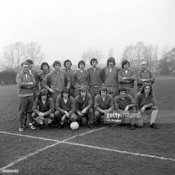 The England squad for the friendly against Portugal trainer Harold Shepherdson Martin Peters Peter Storey Martin Dobson Trevor Brooking Dave Watson...