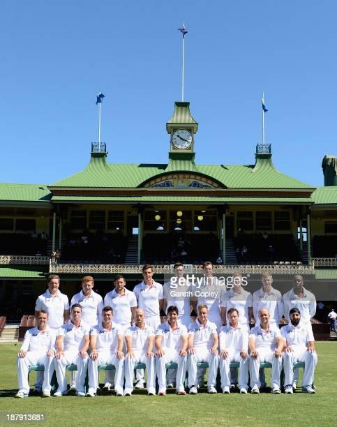 The England team at Sydney Cricket Ground on November 14 2013 in Sydney Australia