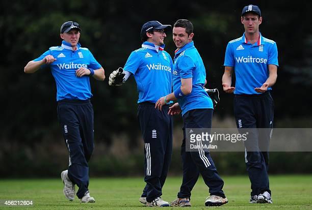 The England team in action during the ECB Blind World Cup Squad Training Camp at The Elms School on September 27 2014 in Great Malvern England