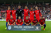 The England team line up ahead of the International Friendly match between England and Australia at Stadium of Light on May 27 2016 in Sunderland...