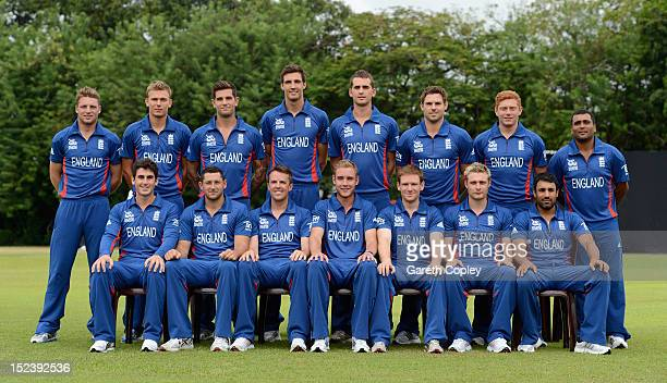 The England team pose for a team photo at Nondescripts Cricket Club on September 20 2012 in Colombo Sri Lanka