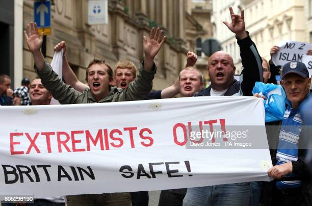 The English Defence League demonstration in Birmingham