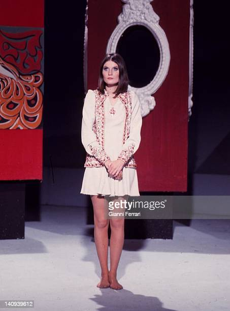 The English singer Sandie Shaw in Spanish TV Madrid Spain