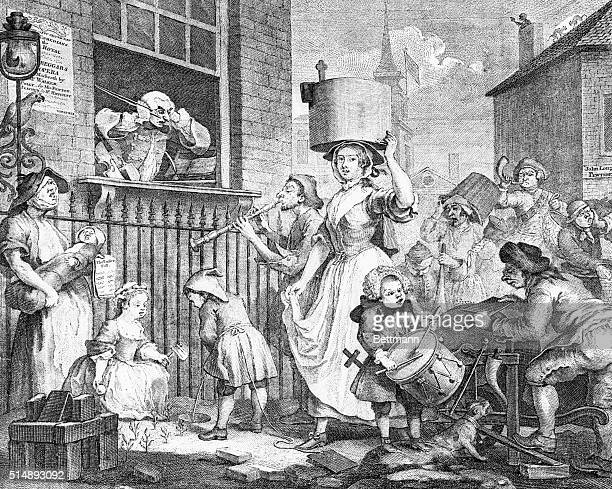 The Enraged Musician by William Hogarth