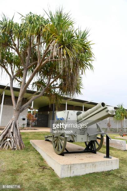 The enrance of the WW2 memorial public swimming pool is seen on July 09 2017 in Rockhampton Australia