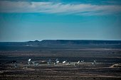 The ensemble of the dishes forming South Africa's MeerKAT radio telescope is seen in Carnarvon on July 16 2016 Even operating at a quarter of its...