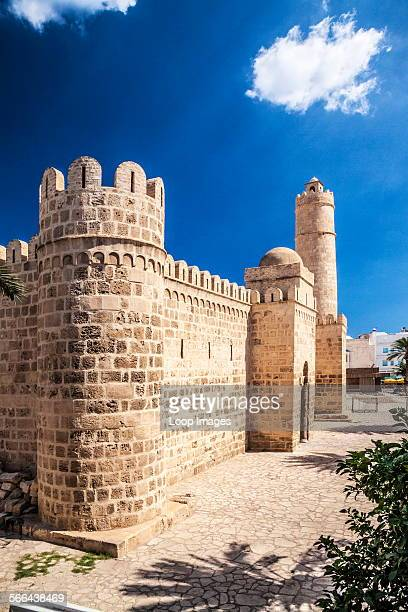 The entrance and Nador or watchtower of the Ribat in the Medina in Sousse in Tunisia