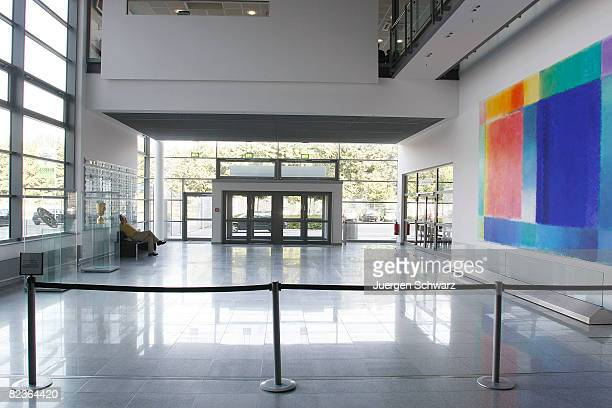 The entrance hall of the Borussia Park is seen on August 15 2008 in Moenchengladbach Germany Officials from DFB and FIFA are touring Germany to...