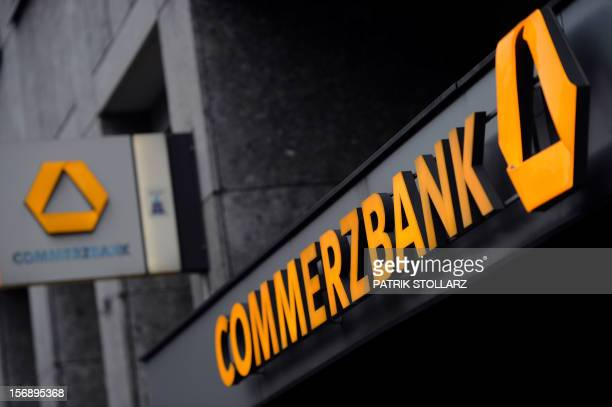 The entrance of a Commerzbank is seen on November 23 2012 in Cologne western Germany AFP PHOTO / PATRIK STOLLARZ