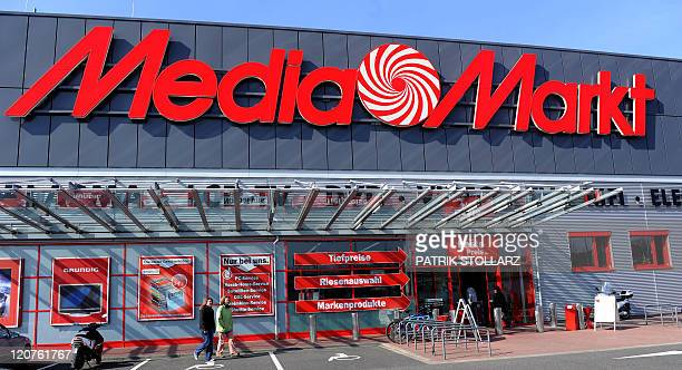 The entrance of a 'Media Markt' store an electronic retail chain of German retail giant Metro Group can be seen on March 22 2011 in Duesseldorf...