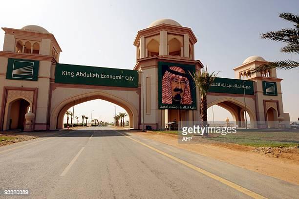 The entrance of King Abdullah Economic City in Jeddah on February 3 2009 AFP PHOTO OMAR SALEM