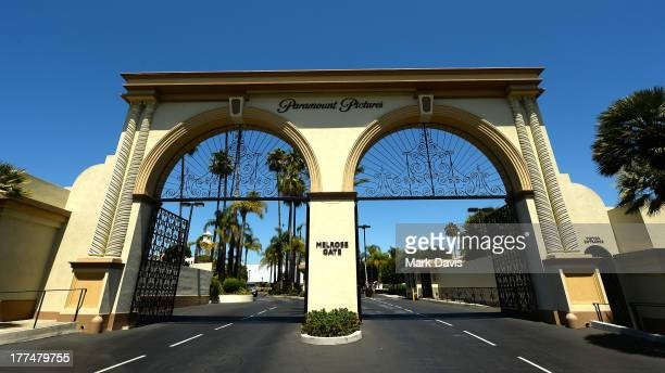 The entrance of Paramount Studios is seen at Paramount Studios on August 23 2013 in Hollywood California