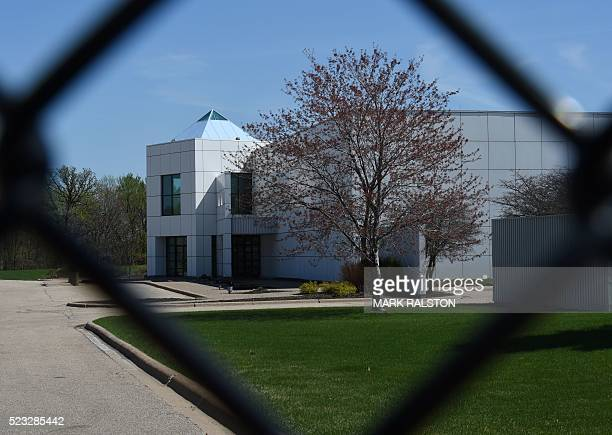 The entrance of the Paisley Park compound of music legend Prince is seen through a fence in Minneapolis Minnesota on April 22 who died suddenly at...