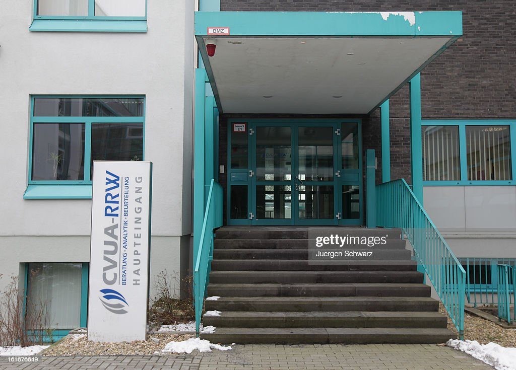 The entrance of the Rhein-Ruhr-Wupper Chemical and Veterinarian Analysis Agency (Chemisches-und Veterinaeruntersuchungsamt Rhein-Ruhr-Wupper) is pictured on February 14, 2013 in Krefeld, Germany. The agency checks the content of ready-made lasagne following the discovery of horsemeat in lasagne and other products labeled to only have beef content in supermarkets in Great Britain. In Germany investigators have confirmed at least one case in the state of North-Rhine Westphalia.