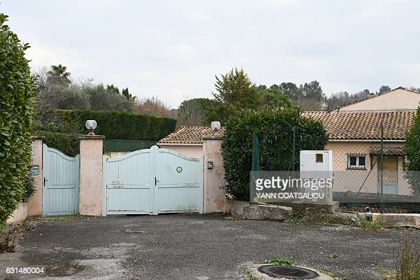 The entrance of the villa where was arrested a 72yearold man suspected of being among the armed men who took part in the stunning breakin at a luxury...