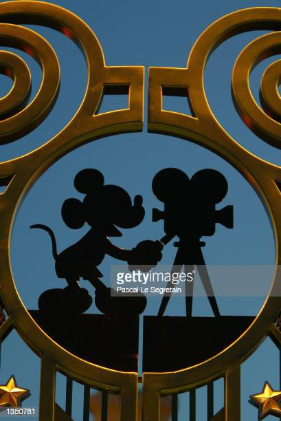 The entrance of Walt Disney studios is shown August 22 2002 in Marne la Vallee France After a rocky start ten years ago Disneyland Paris formerly...