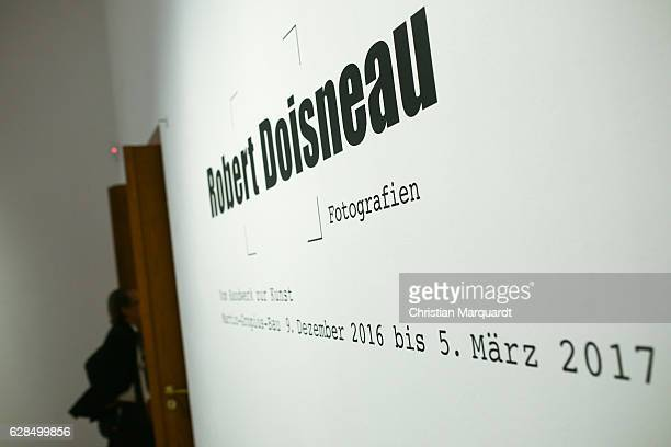 The entrance room pictured during the 'Robert Doisneau Fotografien' press conference and exhibition preview at Martin Gropius Bau on December 8 2016...