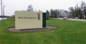 The entrance sign is seen at the headquarters of Monsanto at Creve Coeur Missouri on April 7 2014 Monsanto is the world's largest seed supplier AFP...
