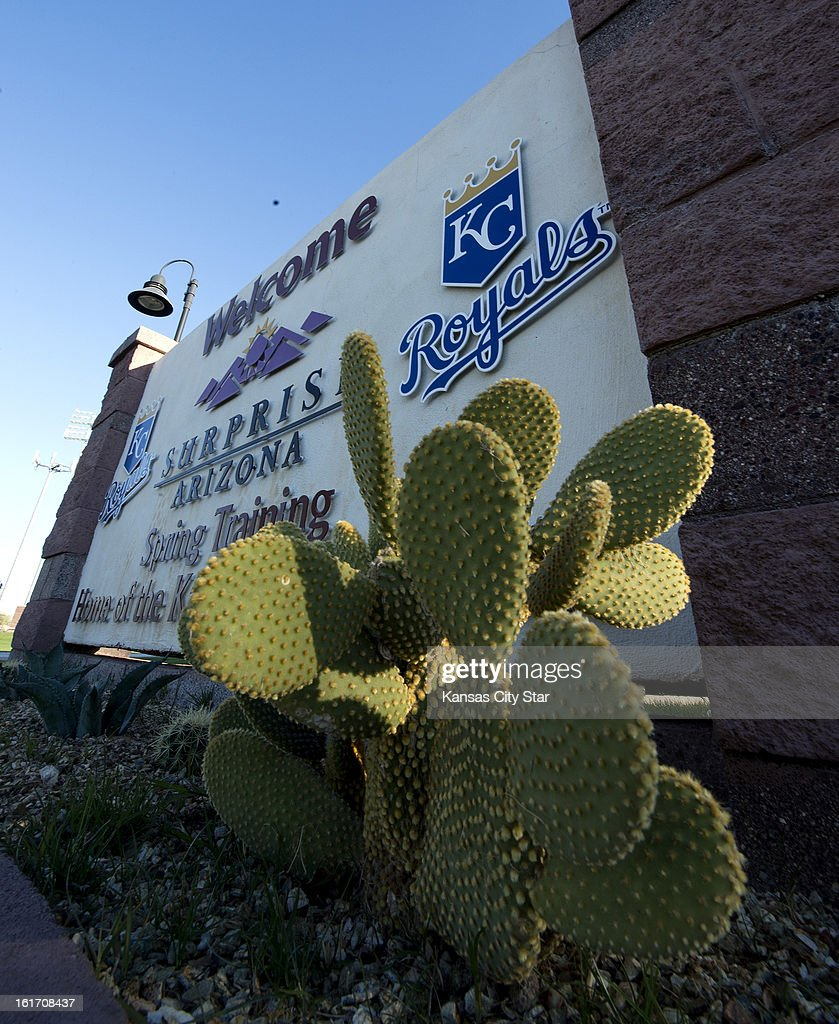 The entrance sign to the Kansas City Royals' spring training complex in Surprise, Arizona, on Thursday, February 14, 2013.