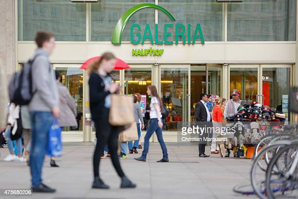 The entrance to a Galeria Kaufhof department store operated by Metro AG in Berlin Germany on June 2 2015 in Berlin Germany The Canadian retailer...