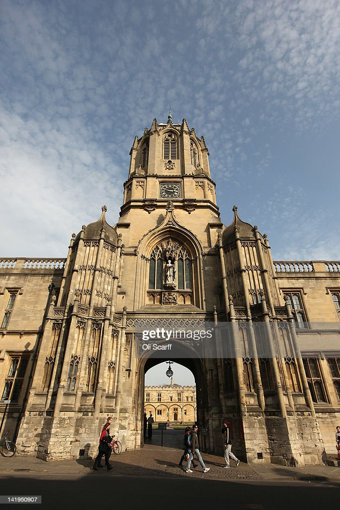 The entrance to Christ Church College from St Aldate's on March 22 2012 in Oxford England