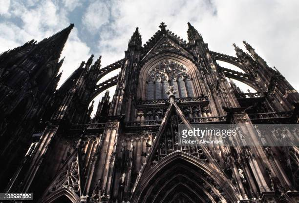 The entrance to Cologne Cathedral in Cologne Germany The landmark cathedral a Roman Catholic church was built between 1248 and 1880