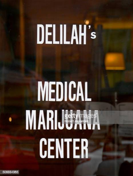 The entrance to Delilah's one of several medical and recreational marijuana retail stores in Telluride Colorado