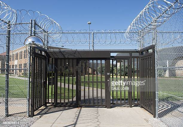 The entrance to El Reno Federal Correctional Institution in El Reno Oklahoma July 16 as US President Barack Obama arrives for a visit Obama is the...