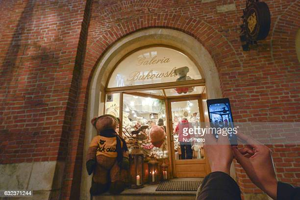The entrance to Galeria Bukowski store in Krakow 's Sienna street a shop with hundreds of plush teddies for sale On Friday 20 January 2017 in Krakow...