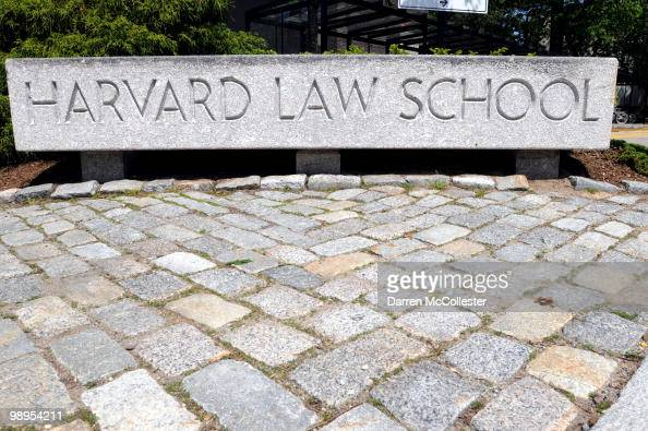The entrance to Harvard Law School campus is seen May 10 2010 on the Harvard University Law School Campus in Cambridge Massachusetts US President...