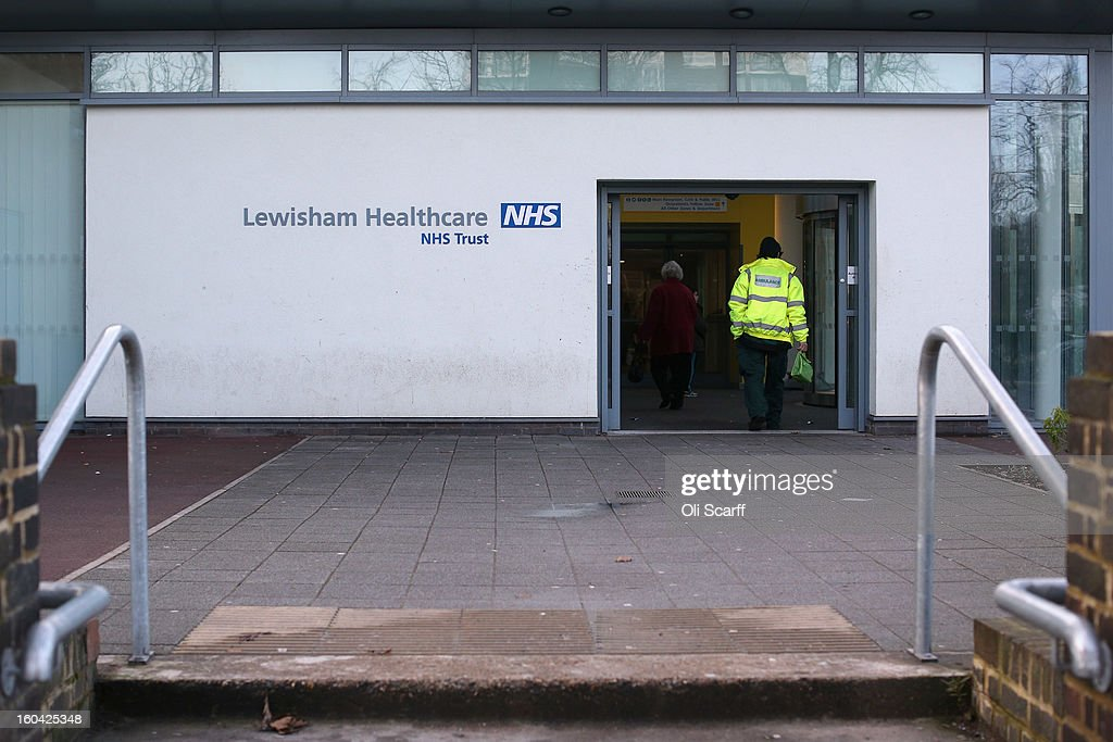 The entrance to Lewisham Hospital's A&E department which is to be downgraded and reduced in size as part of cost-cutting measures on January 31, 2013 in London, England. Health Secretary Jeremy Hunt today announced the cuts to Lewisham's Accident and Emergency and Maternity units in a bid to reduce debts of 150 million GBP held by the neighbouring South London Healthcare NHS Trust. Over 15,000 people had attended a protest march against the cuts on January 26, 2013.
