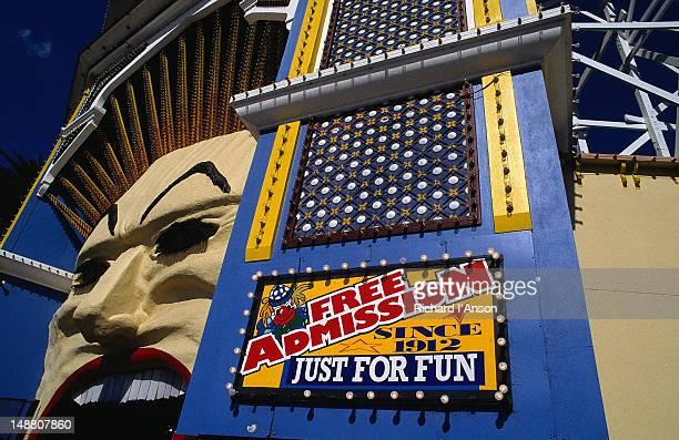 The entrance to Luna Park in St Kilda - Melbourne, Victoria