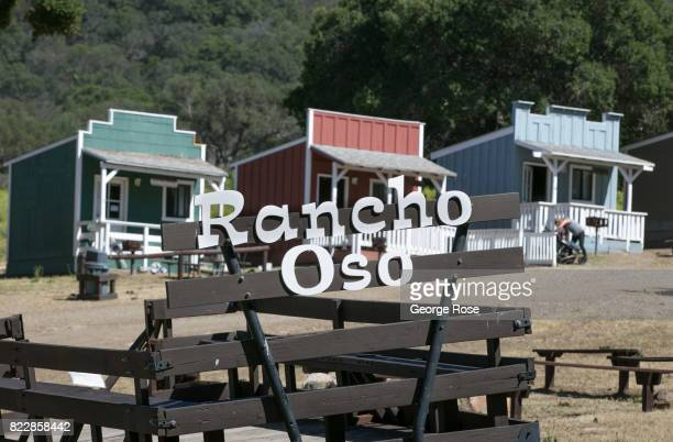 The entrance to Rancho Oso Resort in Santa Barbara County's backcountry is viewed on May 13 near Santa Ynez California Located 45 minutes north of...