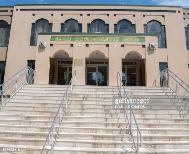 The entrance to the All Dulles Area Muslim Society mosque is seen on June 19 in Sterling Virginia A tightknit Muslim community in the Virginia...