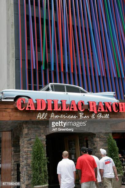 The entrance to the Cadillac Ranch All American Bar and Grill