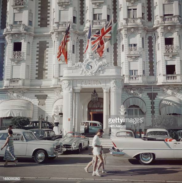 The entrance to the Carlton Hotel Cannes France 1958