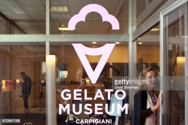 The entrance to the Carpigiani Gelato Museum on March 28 2017 in Bologna Italy Italian brothers Bruto and Poerio Carlo Carpigiani founded the company...