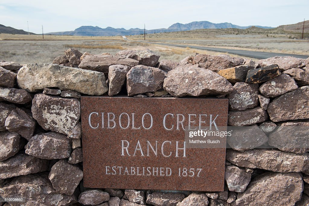 The entrance to the Cibolo Creek Ranch, the day after the death of Supreme Court Justice Antonin Scalia, February 14 , 2016 in Shafter, Texas. Justice Scalia, who was on a quail hunting trip, was found dead Saturday morning in his room at the ranch, he was 79.