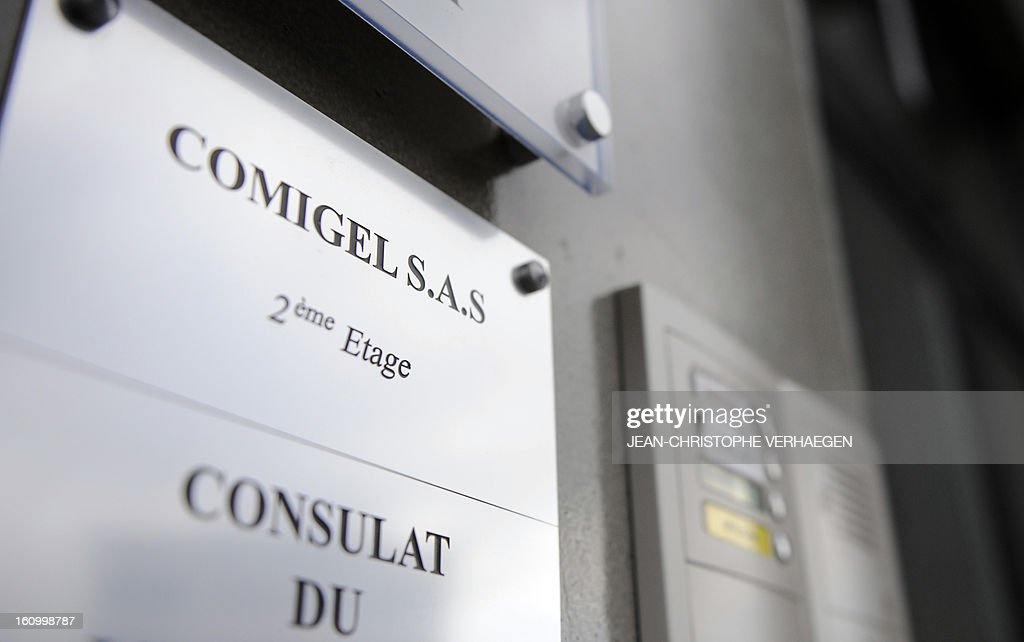 The entrance to the Comigel headquarters is pictured on February 8, 2013 in Metz, eastern France. The French food company that supplied frozen lasagne found to contain up to 100 percent horsemeat to British supermarkets today shut down its website and declined to answer media enquiries. Comigel, based in the northern city of Metz, supplies frozen meals to supermarket chains and other clients in 15 countries, with Germany, the Netherlands, Belgium and Scandinavia the main markets, according to industry websites.