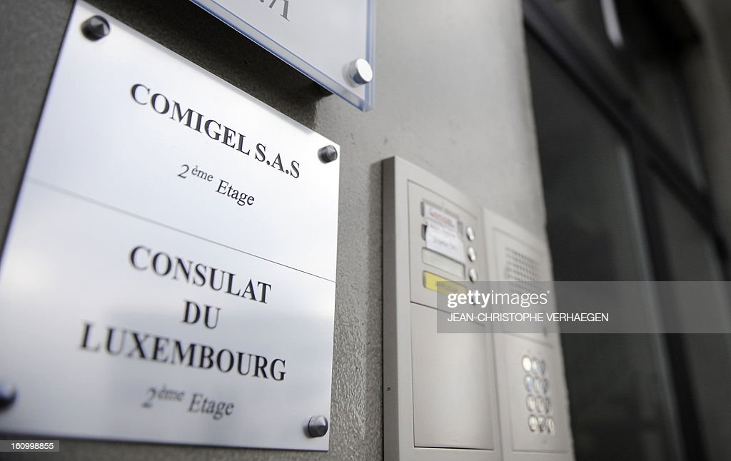 The entrance to the Comigel headquarters is pictured on February 8, 2013 in Metz, eastern France. The French food company that supplied frozen lasagne found to contain up to 100 percent horsemeat to British supermarkets today shut down its website and declined to answer media enquiries. Comigel, based in the northern city of Metz, supplies frozen meals to supermarket chains and other clients in 15 countries, with Germany, the Netherlands, Belgium and Scandinavia the main markets, according to industry websites. AFP PHOTO / JEAN-CHRISTOPHE VERHAEGEN