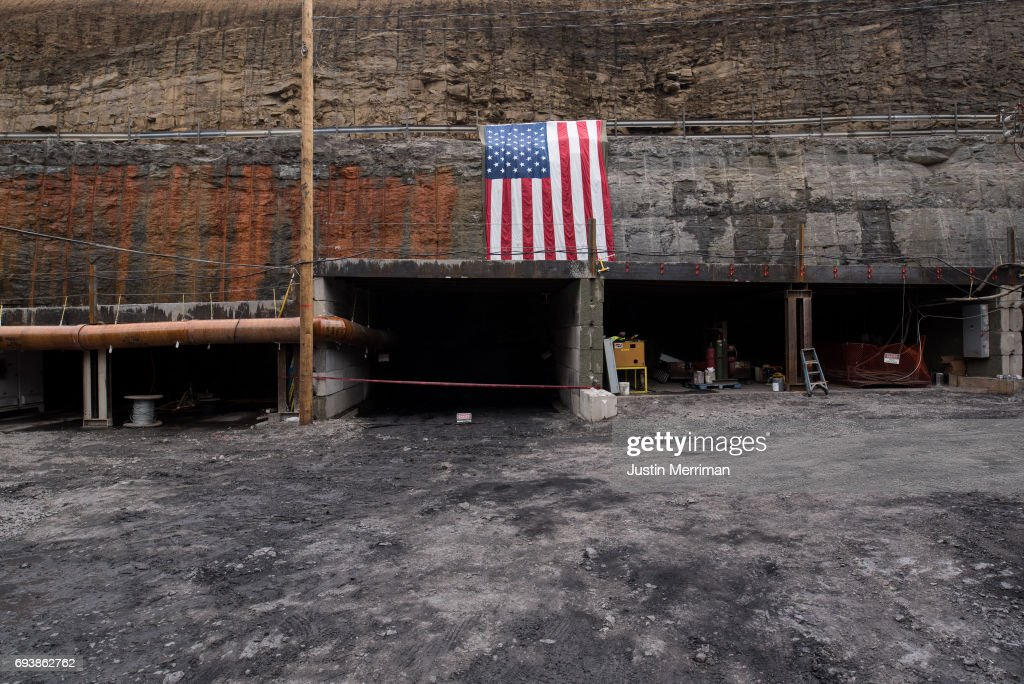 The entrance to the Corsa Coal's Acosta Deep Mine on June 8, 2017 in Friedens, Pennsylvania. The mine, which celebrated its grand opening on Thursday, is expected to create more than 70 new jobs and should produce 400,000 tons of metallurgical coal a year.